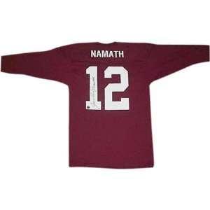 Joe Namath Alabama Crimson Tide Autographed Throwback Maroon Mesh