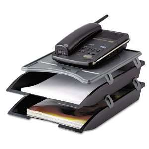 Innovera  Telephone Stand with Stackable Letter Size Paper Trays