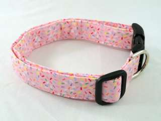 Sweet Candy Sprinkles on Light Pink Dog Collar