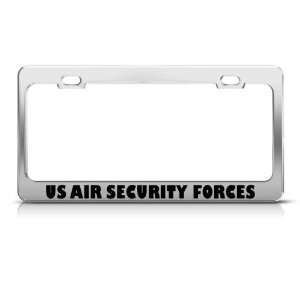 Us Air Security Forces Military license plate frame Stainless Metal
