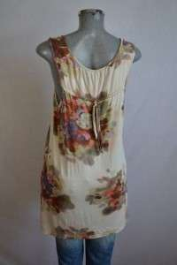 WESTON WEAR Anthropologie asymetrical hem floral print jersey tank top