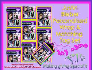 Personalised Gift Wrapping Paper Birthday Justin Bieber