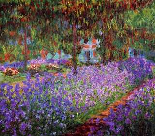 Garden in Giverny by Claude Monet 20x20 Art on Canvas