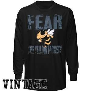 Georgia Tech Yellow Jackets Black Fear the Jackets Vintage