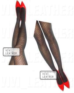 NEW ZEBRA PRINT Wild Animal Sexy Legwear Opaque Sheer Stockings
