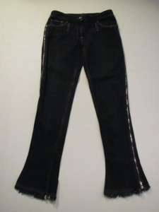 Dolce & Gabbana Black Jeans w/Zippers on Legs,sz 42 WOW