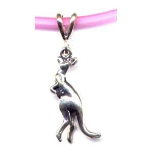 16 Pink Kangaroo Necklace Sterling Silver Jewelry Sports
