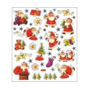 Tattoo King Multi Colored Stickers Santas Christmas; 6
