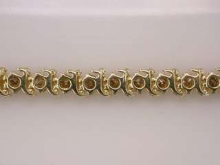 Genuine Diamond 6.00ct 14K Yellow Gold Ladies Tennis Bracelet Jewelry
