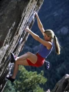 Young Woman Rock Climbing Photographic Print at AllPosters