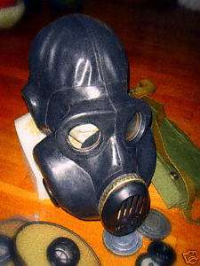 Russian USSR military black rubber gas mask EO 19, NEW