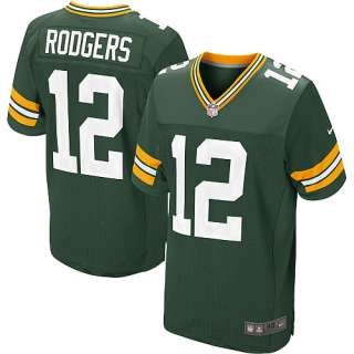 Mens Nike Green Bay Packers Aaron Rodgers Elite Team Color Jersey