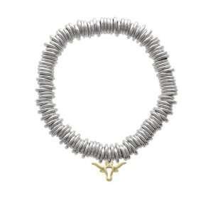 Mini Longhorn Head Outline Gold Plated Charm Links Bracelet [Jewelry]