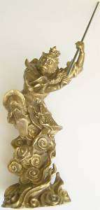 FENG SHUI BRASS BRONZE MONKEY KING STATUE FIGURINE
