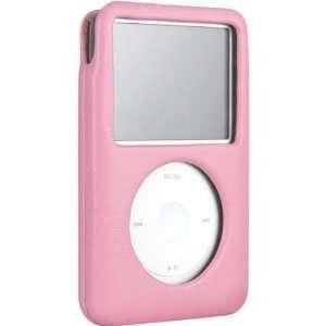 Peony Pink Italian Leather Case For iPod(tm) 80GB classic Electronics