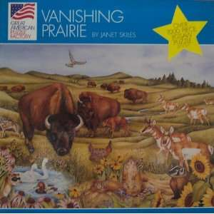 ; Vanishing Prairie Over 1000 Piece Jigsaw Puzzle Toys & Games