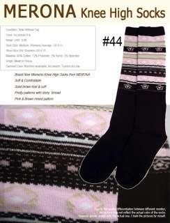 MERONA Womens Knee High Soft Socks Argyle Stripes 9 11