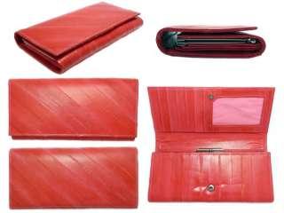 Genuine Eel skin Leather Wallet Purse Clutch Wallet 15 Colors