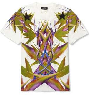 shirts  Crew necks  Paradise Print Cotton Jersey T shirt