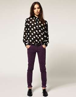 Minkpink  Minkpink Stop and Stare Polka Dot Chiffon Blouse at ASOS