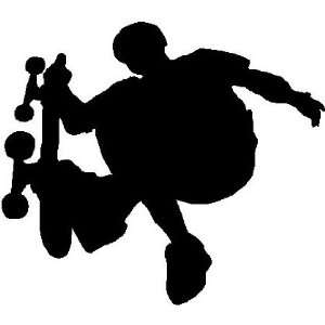 SKATEBOARD BOY WALL STICKERS ART DECALS DECOR, WHITE
