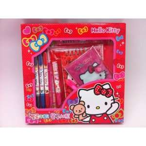 licensed Hello Kitty Sanrio Cutie School Supplies Value Pack Set   Red