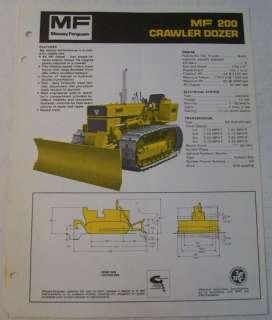 Massey Ferguson 1971 Crawler Dozer Sales Brochure