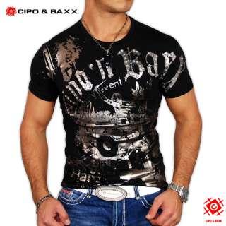GEILES CIPO & BAXX CLUB T SHIRT HARD FANTASY SCHWARZ
