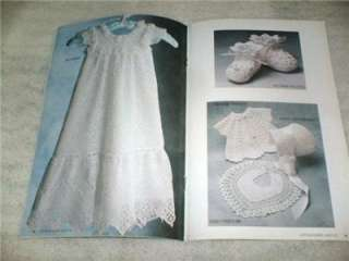 Annies Attic Crochet ANTIQUE BABY LAYETTE Pattern Book