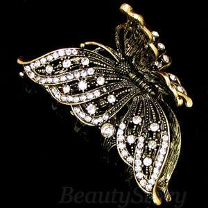 ADDL Item  1pc rhinestone crystal Antiqued leaves hair