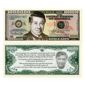 Cesar Chavez Million Dollar Bill Case Pack 100 Toys & Games