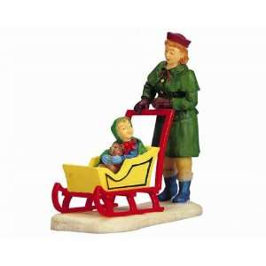Village Collection Carriage Sled Figurine #02432