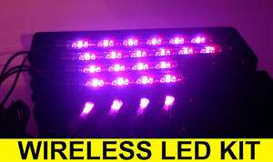 8pc COLOR WIRELESS LED UNDER GLOW UNDER LIGHTS KIT