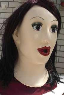 sexy Latex Maske Frauengesicht Domina Diva LATEXMASKE