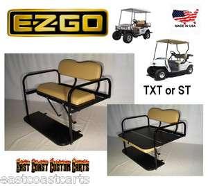 EZGO Golf Cart Rear Flip Down Seat Kit TAN (FAST )
