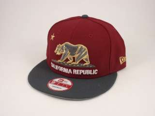 California Republic Snapback Hat New Era 9FIFTY Cap Baseball Bear Flag