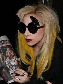 Lady gaga glasses Mickey Mouse glasses Flip sunglasses