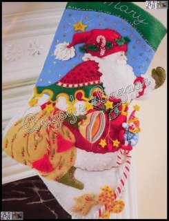 Bucilla SANTA SAYS HELLO Stocking Felt Christmas Kit   Mary Engelbreit