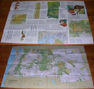 National Geographic MAP 1973 Northwest   WA OR ID MT WY