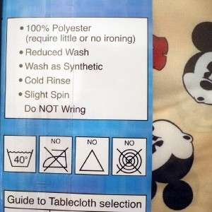 New Disney Mickey Mouse Table Cloth Oval Shape 4 6 seat