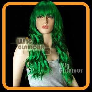 Anime Cosplay Wig Long Curly Green Hair Wigs LLA53