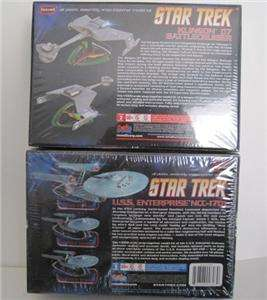 STAR TREK KLINGON D7 BATTLECRUISER+ENTERPRISE MODEL KIT