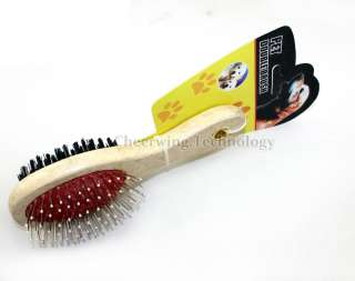 18CM Double sided Pet Dog Cat Brush Hair Grooming Comb