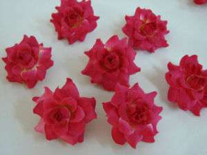 24 Mini Light Red Rose flower Craft and Decoration