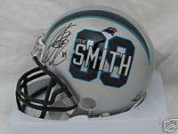 STEVE SMITH signed PANTHERS Player #89 MINI HELMET