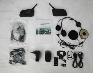 Bluetooth Motorcycle Helmet Intercom Headset 1km Kit 2