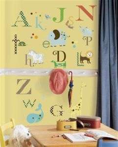 NeW ALPHABET ANIMALS Wall Sticker 107 ABC Name Decals