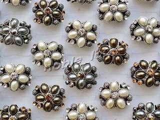 bulk lot resale 10pcs Tiger eye gemstone&Glaze Gold Plated rings