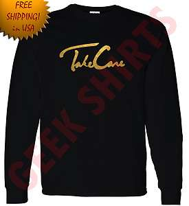 GOLD OVO Drake Take Care t shirt OVOxo owl YMCMB LONG sleeve shirt S