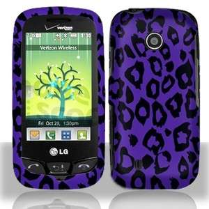 Purple Leopard Hard Case Cover LG Cosmos Touch VN270